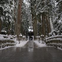 高野山・奥之院 冬の様子