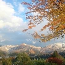 冠雪する志賀の山々
