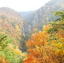 志賀高原、澗満滝。県内一の落差。