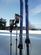 里山スキーの道具