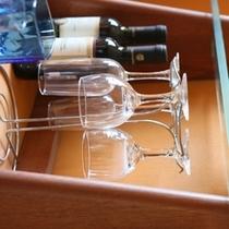 露天風呂付き客室にはミニバーをご用意!