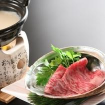 【上総和牛】豆乳仕立ての峰岡鍋