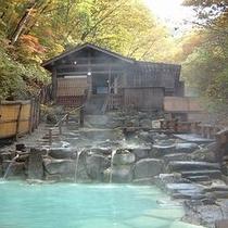 【蔵王大露天風呂】自然の川が流れ♪川のせせらぎを聞きながら源泉掛け流しでのんびり♪湯ったり♪