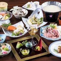 山形県産 米の娘豚の「豆乳しゃぶしゃぶ」を中心とした和会席膳