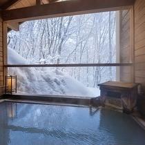 【お風呂】露天風呂かもしか遊びの湯~源泉掛け流しの温泉で体も心もほっこりと♪