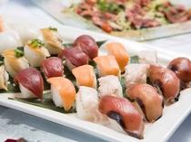 種類豊富なお寿司が食べ放題