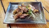 熊野地鶏の網焼き