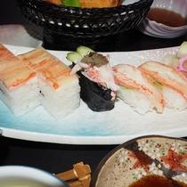 ズワイガニづくし寿司