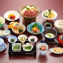 *春の味覚が盛り込まれたお料理/全12品(一例)