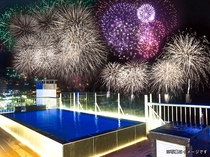 【屋上露天風呂】熱海の花火大会もご鑑賞頂けます