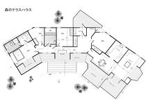 森のテラスハウス図面