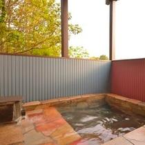 庭の貸切露天風呂(昼)