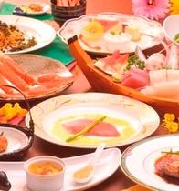 【夕食】フォアグラ載せフィレステーキコースの全料理