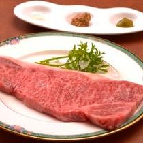 【夕食】国産牛ステーキ