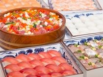 お寿司も食べ放題(画像は一例です)