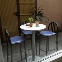レストランの喫煙コーナー
