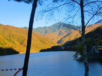 広瀬湖 秋