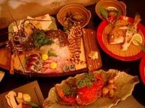 ワタリガニや伊勢海老・鮑など 天然のチダイの塩焼きは絶品です!