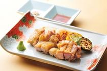 新潟地鶏の鉄板焼き