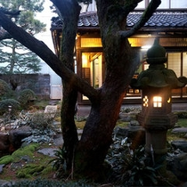 夜は昼間とはまた違う庭園が見られます