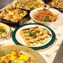 卵料理や魚料理でボリューム、栄養満点です!