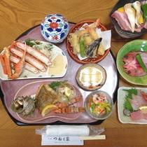 【磯定食一例】旬の地魚を使った基本的な磯料理コースです
