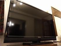 大型テレビを全部屋に導入しました。大画面でお楽しみ下さい。