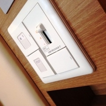 照明関係のスイッチはベッドに横になったままコントロール(ユニットバス除く)