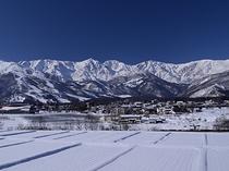 冬の北アルプス(白馬三山)