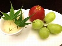 9月 シャインマスカット・フルーツトマト・メイプルプリン