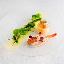 【緑の野菜と魚介のフラン】洋風茶碗蒸し