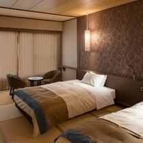 【5・6階客室】シモンズのツインベッド