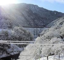 和園露天からの冬景色