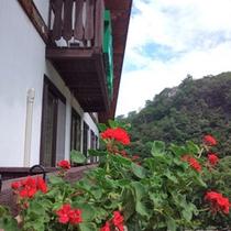 *外観/春は清々しい緑の景色と色とりどりの花々が到着をお待ちしております♪