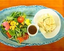 ルームサービス(新鮮野菜とポテトサラダ)