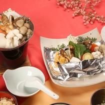 【いこい膳一例(秋)】秋ならではのきのこを使ったお料理