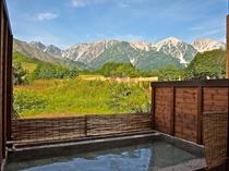 日帰り温泉が近隣に沢山あります。天気の良い日には北アルプス一望の露天風呂も