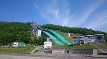 ジャンプ台、宿から徒歩10分。長野冬季オリンピックの会場でした