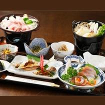*夕食一例/旬の食材を使用したお料理。どうぞご賞味くださいませ。