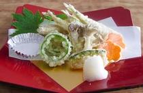 わかさぎの天ぷら【夕食一例】