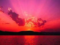 島根半島に沈む夕景