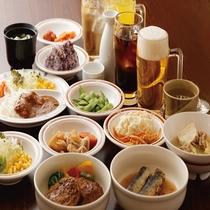 【夕食バイキング】食べ放題+ソフトドリンク付