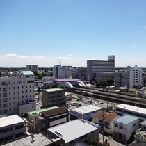 【お部屋からの眺め】牛久駅♪2