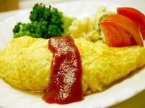 ■朝食 オムライス1 当館では、卵料理も提供です。