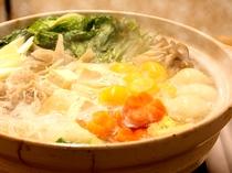 【朝食】季節限定!「鶏つくね鍋」を朝食バイキングに加えております♪