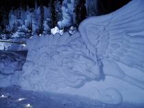 雪像 鳳凰