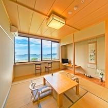 【リニューアル客室・サンセットカウンター付】海側和室(一例)