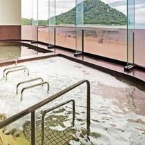 パノラマ展望大浴場【寝湯式ジェットバス】/地下1500mから汲み上げている自家源泉の天然温泉♪