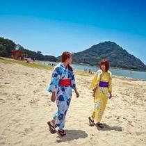 友達との女子旅/約1km続く白砂青松の菊ヶ浜海岸沿いに位置する宿