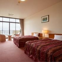 【部屋】オーシャンビュー洋室(45平米/ベッド幅125cm)※エキストラベッド使用で3名様まで宿泊可